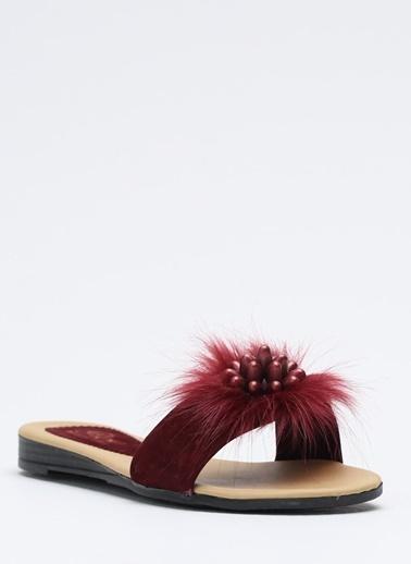 Shoes1441 Terlik Bordo